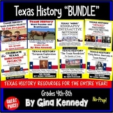 Texas History Bundle!  Lessons and Projects for the Entire Year!