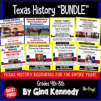"""Texas History Products """"BUNDLED"""""""