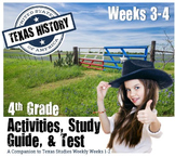 Texas History- Texas Government & Early Texans- Use with Texas Studies Weekly