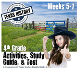 Texas History- Texas Indians-  Use with Texas Studies Weekly