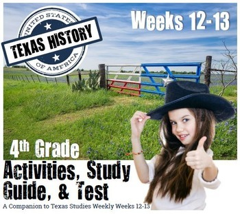 Texas History- Texas Missions-  Use with Texas Studies Wee