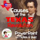 Texas History - Texas Revolution - PowerPoint, Notes and Quiz