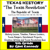Texas Revolution Unit, Texas History TEKS 4.3A,B,C,D,and F