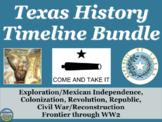 Texas History Timeline BUNDLE
