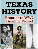 Texas History Timeline Project: The Frontier to World War 2