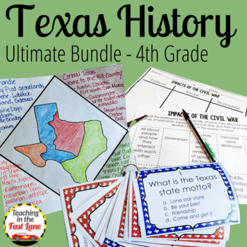 Texas History BUNDLE with Lesson Plans