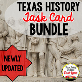Texas History Task Card Bundle
