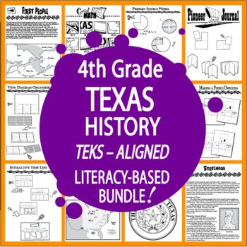 Texas History Bundle of 7 COMPLETE Lessons