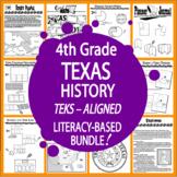 Texas History–Texas Native Americans, Spanish Missions, Te