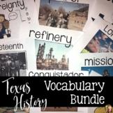 Texas History VOCABULARY BUNDLE