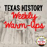 Texas History Warm Up