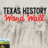 Texas History Word Wall