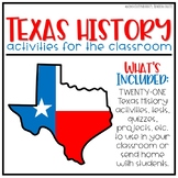 Texas History Year Bundle 4th Grade