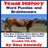 Texas History and Culture Brainteasers and Word Puzzles