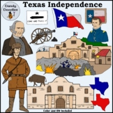 Texas Independence/Battle of the Alamo Clip Art by Dandy Doodles