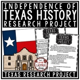 Texas Revolution Activity & Texas Independence Project