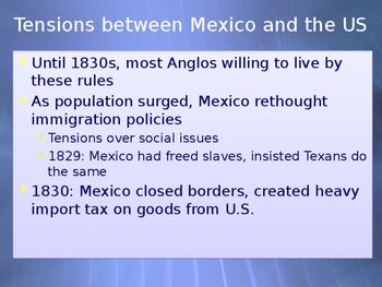 Texas Independence and Mexican-American War PowerPoint