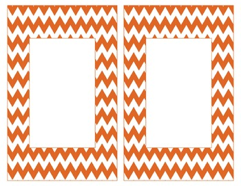 Texas Inspired Orange and White Alphabet & Number Cards for Word Walls-Editable
