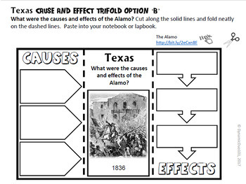 Texas Interactive Notebook and Lapbook Activities with Test Prep Passages