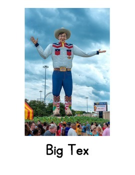 Texas Landmark Sort - CSCOPE/TRS Unit 2 - I am a Texan (Grade 2).
