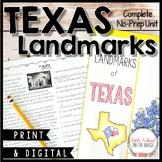 Texas Landmarks Unit - No Prep