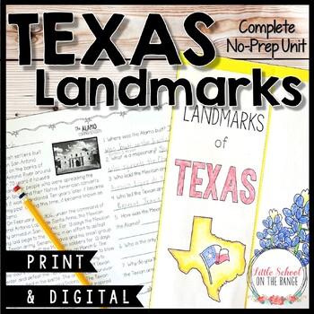 Texas Landmarks No-Prep Unit