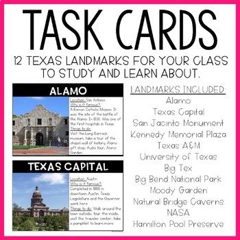 Texas Landmarks: Write the Room Activity