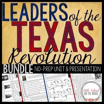 Texas History - Texas Leaders BUNDLE