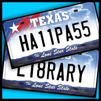 Texas License Plate Hall Passes