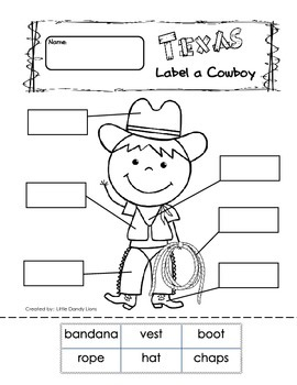 Texas Freebie Literacy Activites