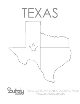Large, Printable Texas State Flag to Color, from NETSTATE.COM | 350x270