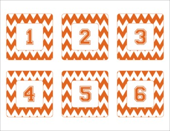 Texas Longhorns Inspired Burnt Orange and White Chevron Ca