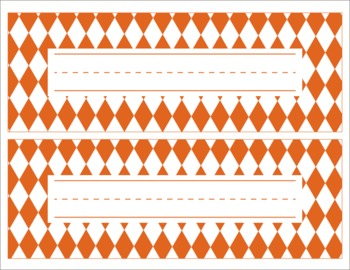 Texas Longhorns Inspired Editable Orange and White Name Desk Tags/Word Wall