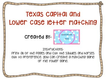Texas Lowercase and Uppercase Letter Matching