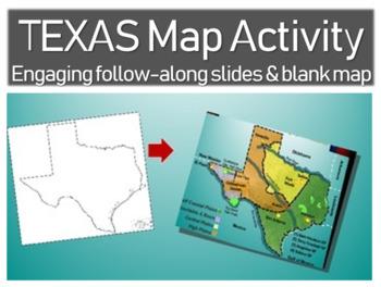 Texas Map Activity: Fun, engaging follow-along 30-slide PP