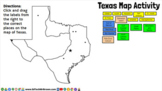 Texas Map Activity in Google Slides for Google Classroom