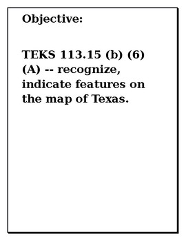 Texas Map Exercise