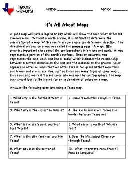 Map Of Texas Quiz.Texas Map Quiz By Mitchell In The Middle Teachers Pay Teachers