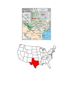 Texas Map Scavenger Hunt