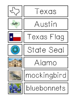 Texas Matching Game