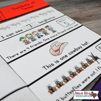 Texas Math Emergent Readers {TEKS} | Sight Word Practice | Texas Symbols