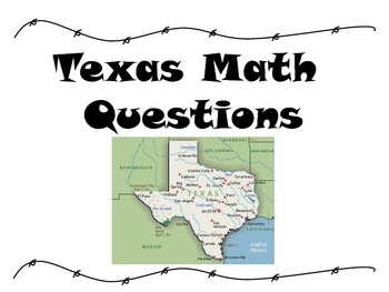 Texas Math Problems