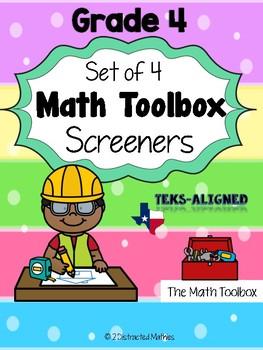 Texas-Math Screeners--Grade 4  (set of 4)
