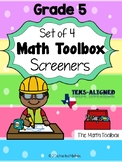 Texas-Math Screeners--Grade 5  (set of 4)