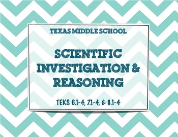 Texas Middle School Science TEKS 6.1-4, 7.1-4, 8.1-4
