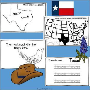 Texas Mini Book for Early Readers - A State Study
