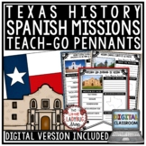Texas Missions Unit Activity- Alamo Spanish Missions Texas History Research