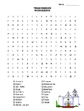 Texas Missions Vocabulary Word Search