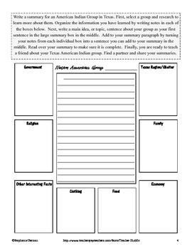 Texas - Native American Groups in Texas Graphic Organizers
