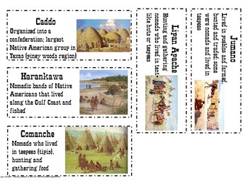 Texas Native Americans Vocab Cards